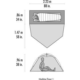 MSR Hubba Tour 1 CDL - Tiendas de campaña - gris